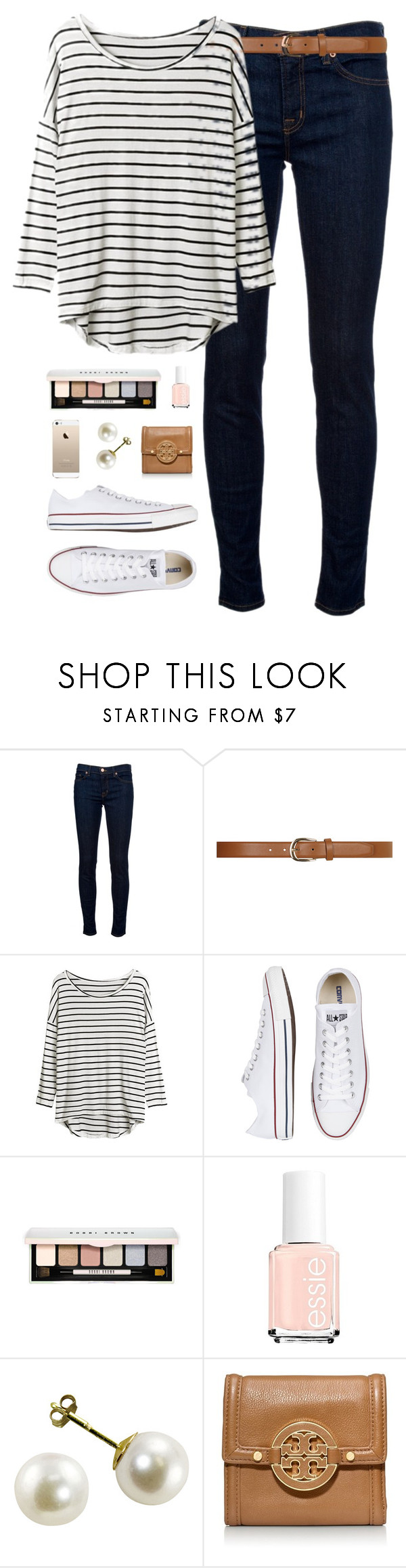 """""""ootd"""" by classically-preppy ❤ liked on Polyvore featuring J Brand, Dorothy Perkins, Converse, Bobbi Brown Cosmetics, Essie and Tory Burch"""