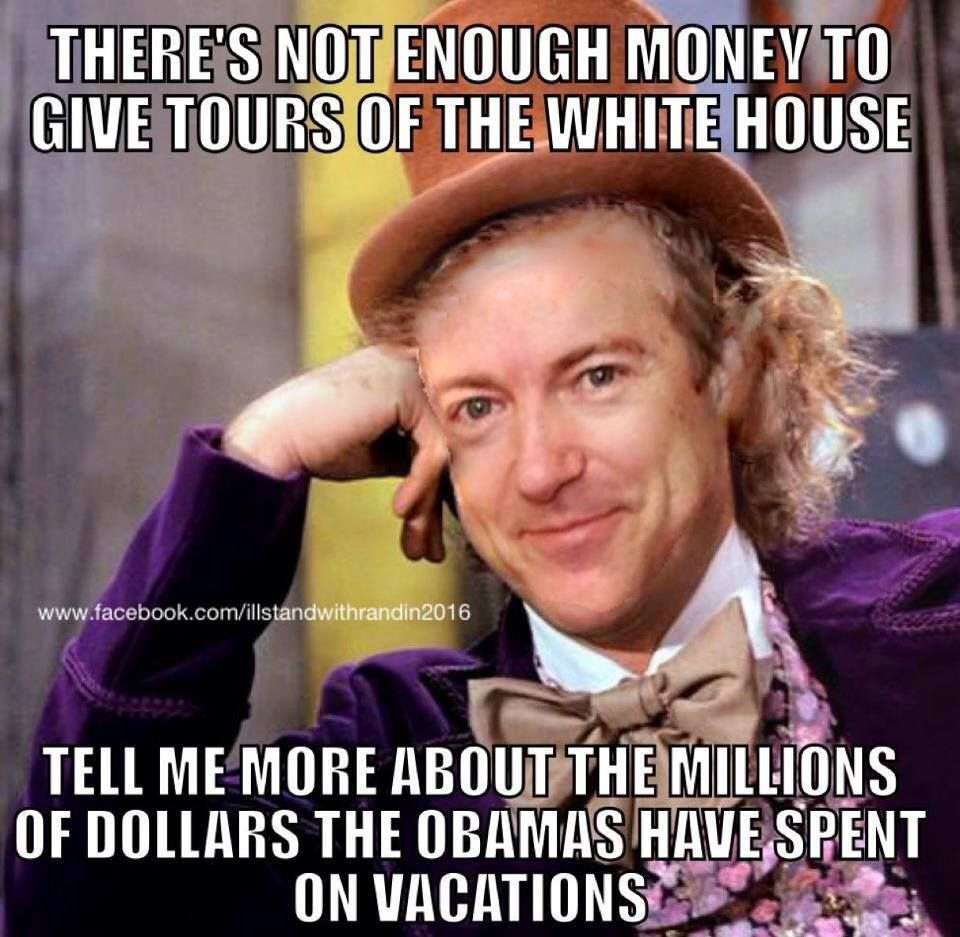 Funny how the WH tours are all volunteer work. Not enough money?? Just trying to hide those prayer rooms for all the Muslims.