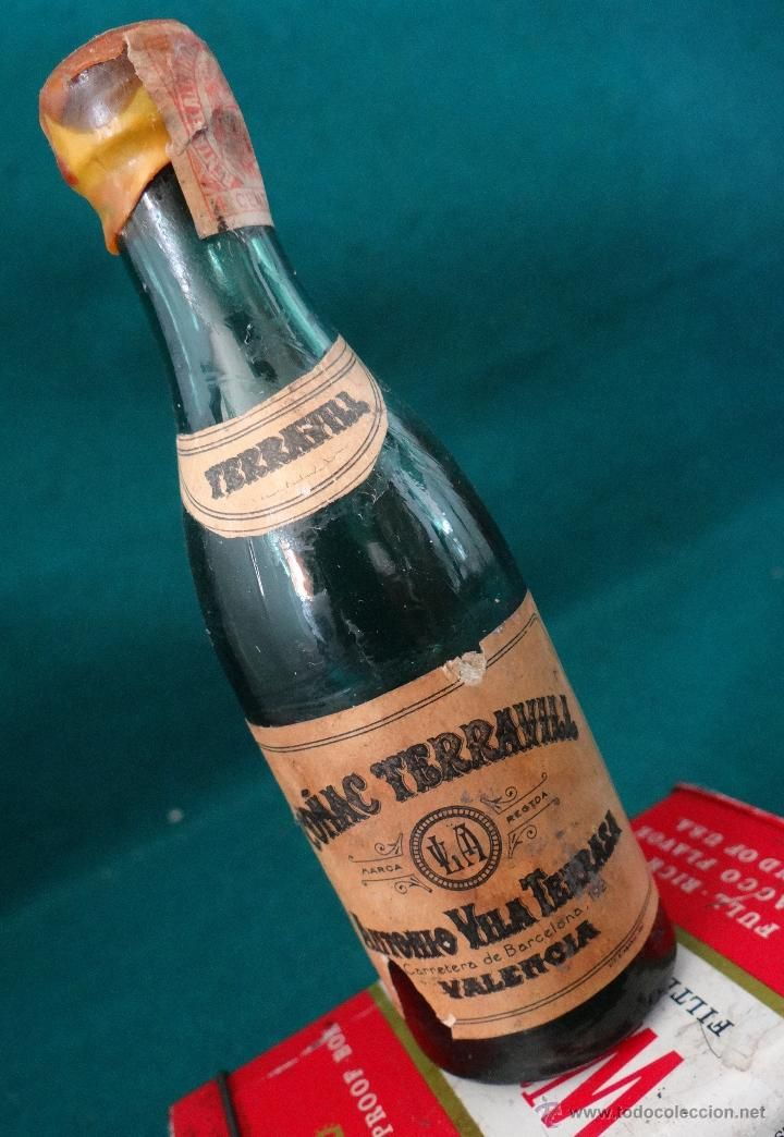 Compro Botellas De Vino Antiguas Conac Terravill Antonio Vila Terrasa Valencia Antiguo Botellin