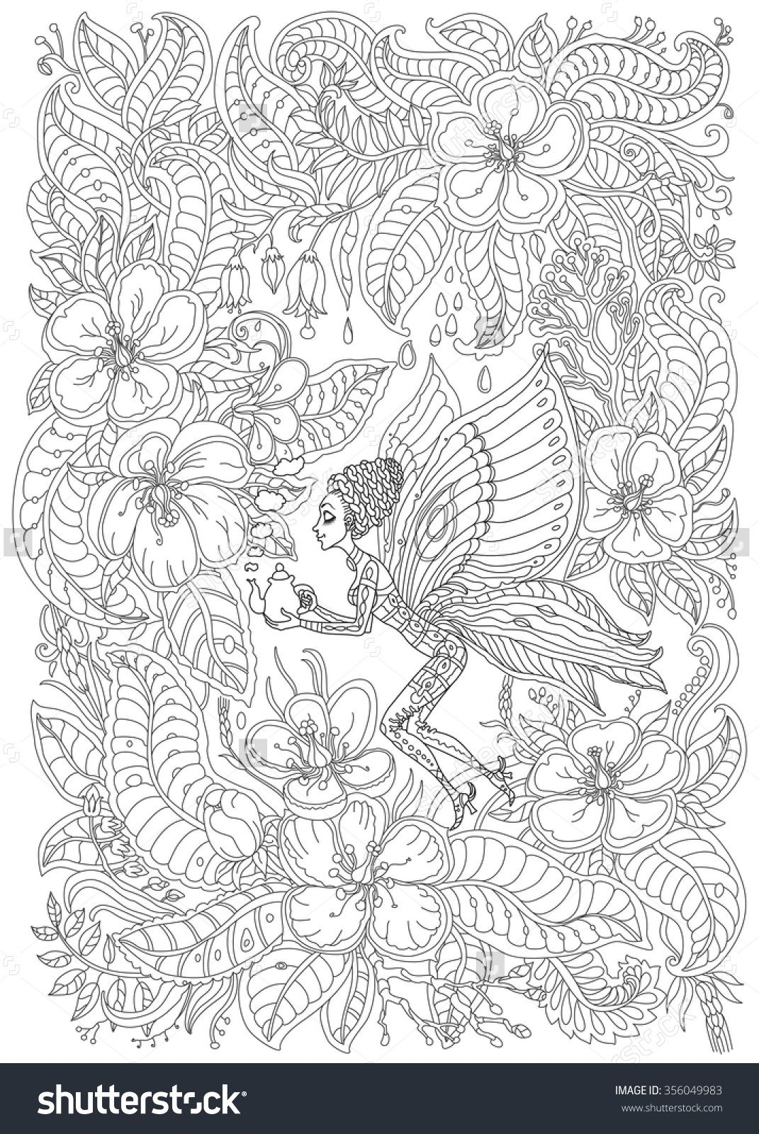 Pin On Zentangles Adult Colouring Coloring Pages [ 1600 x 1071 Pixel ]