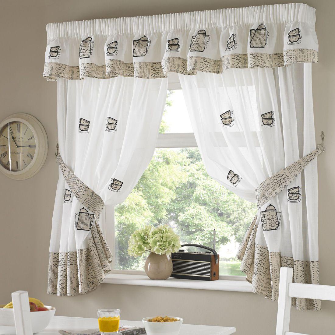 Coffee Pots Kitchen Curtain in 2019 | Home design | Kitchen ...