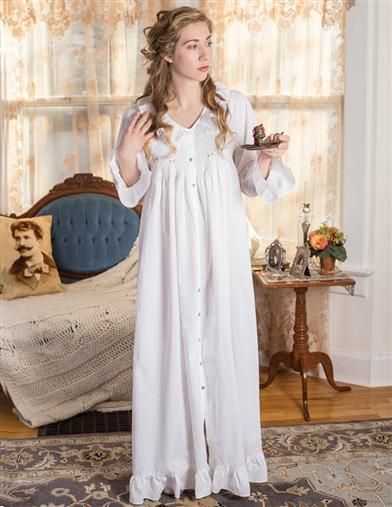 645da1ff48 French Knotted Roses Smocked Nightie
