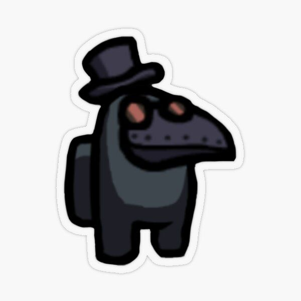 Among Us Black Plague Doctor Sticker By Bibli0cinephile Redbubble In 2020 Black Plague Doctor Stranger Things Sticker Plague Doctor