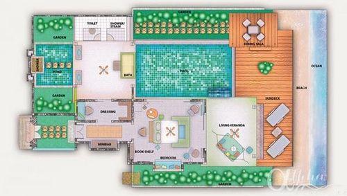 beach house floor plan1447 Beach house floor plans