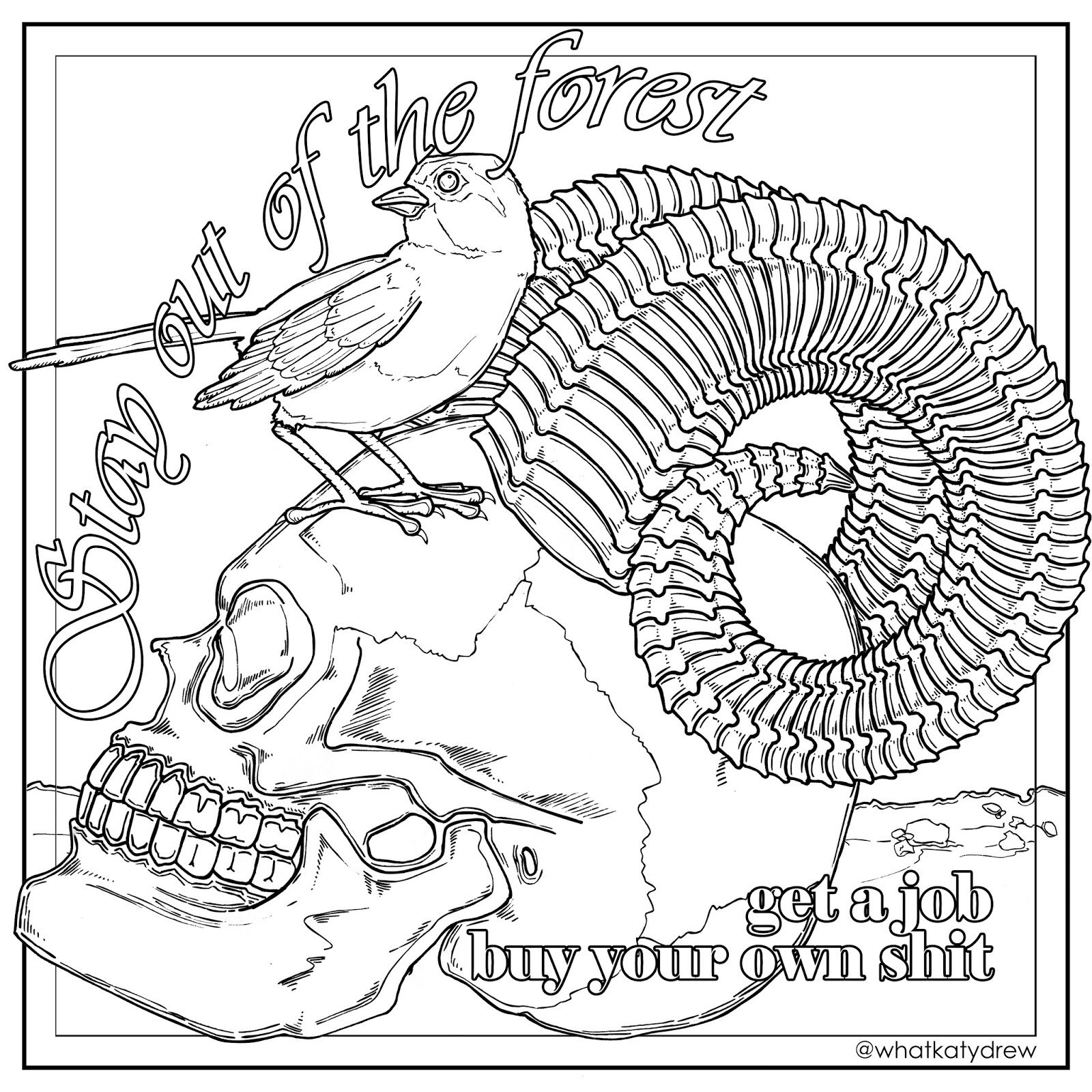 free my favorite murder coloring page
