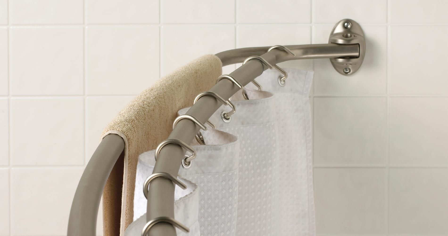 Double Curved Shower Curtain Rod Chrome | http://legalize-crew.com ...