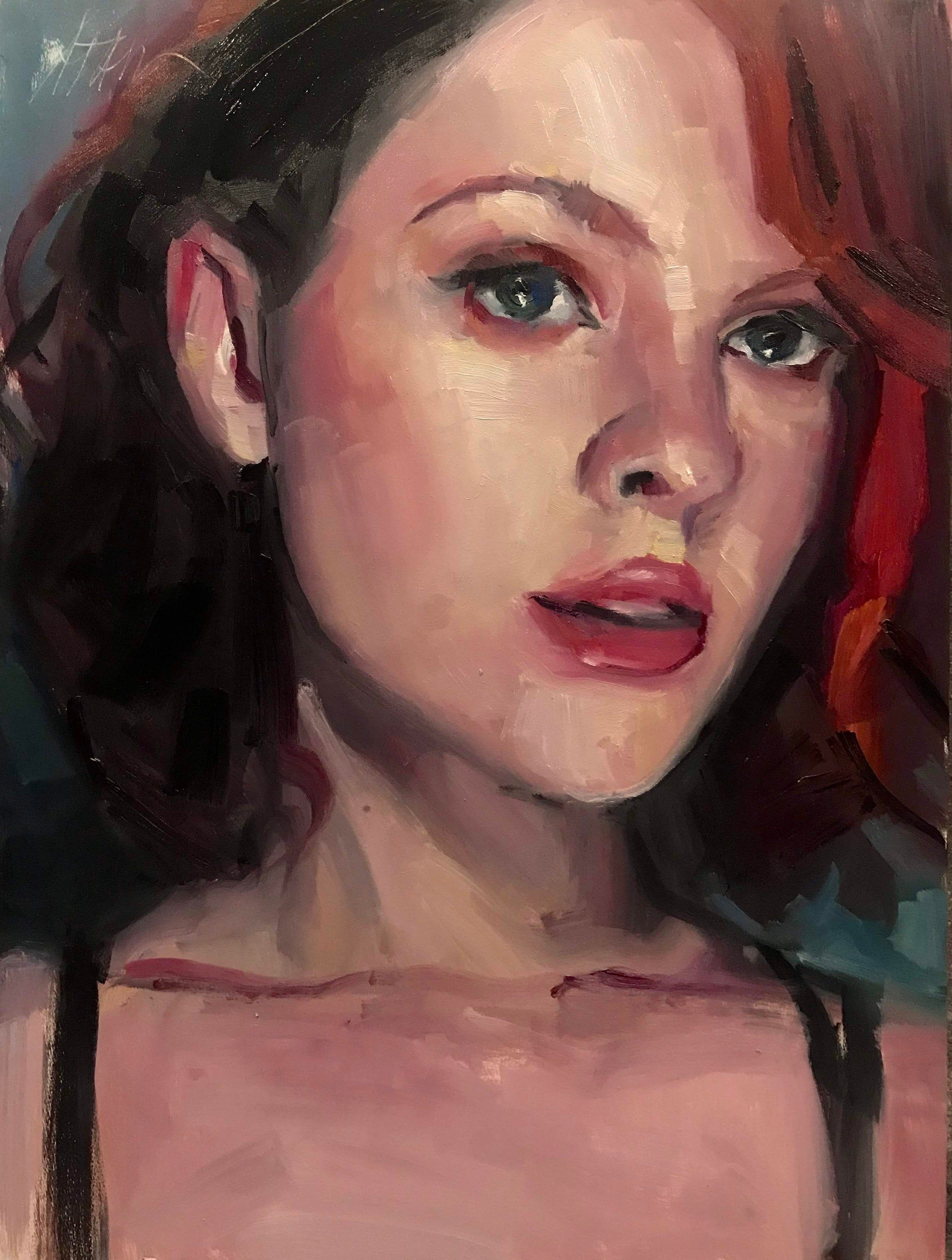 Original Oil Painting Of Glow Shae Portrait Study In 2019