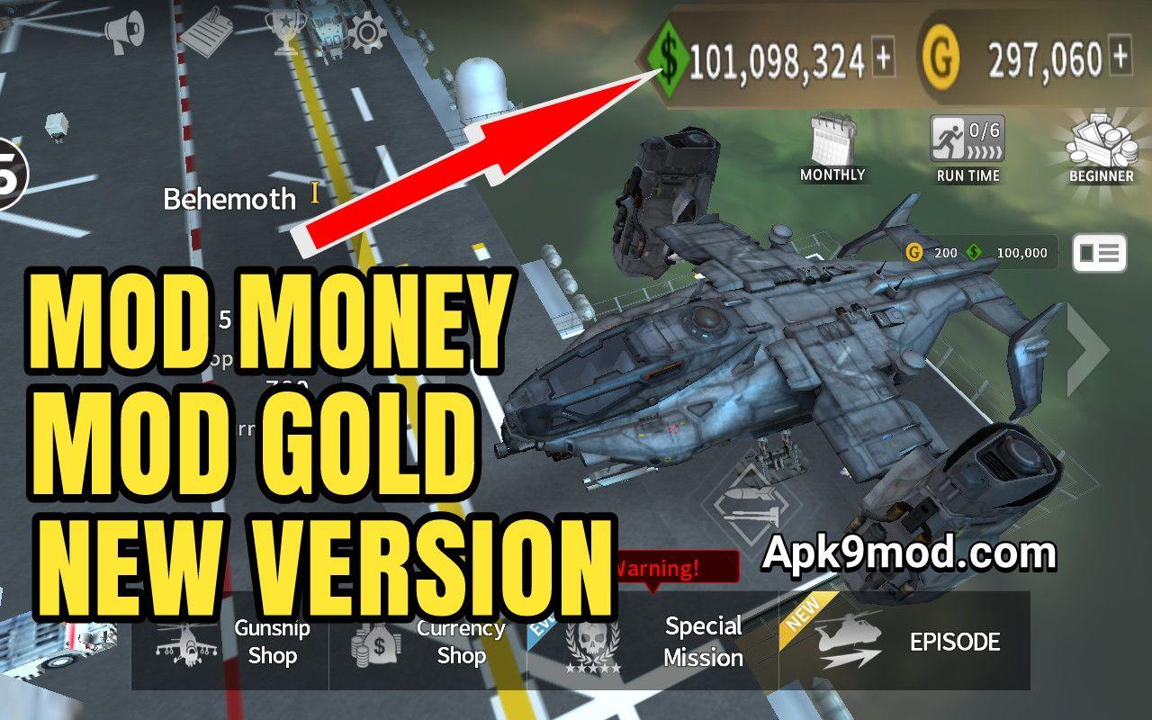 gunship battle mod apk unlimited gold 2019
