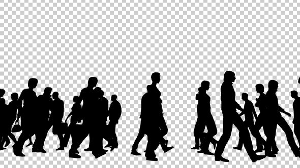 Silhouettes Of People Walking Silhouette People Silhouette Walking Animation