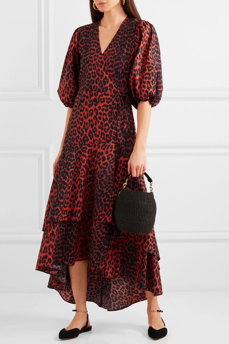 660dec3dd19 GANNI - Bijou leopard-print cotton-poplin wrap dress