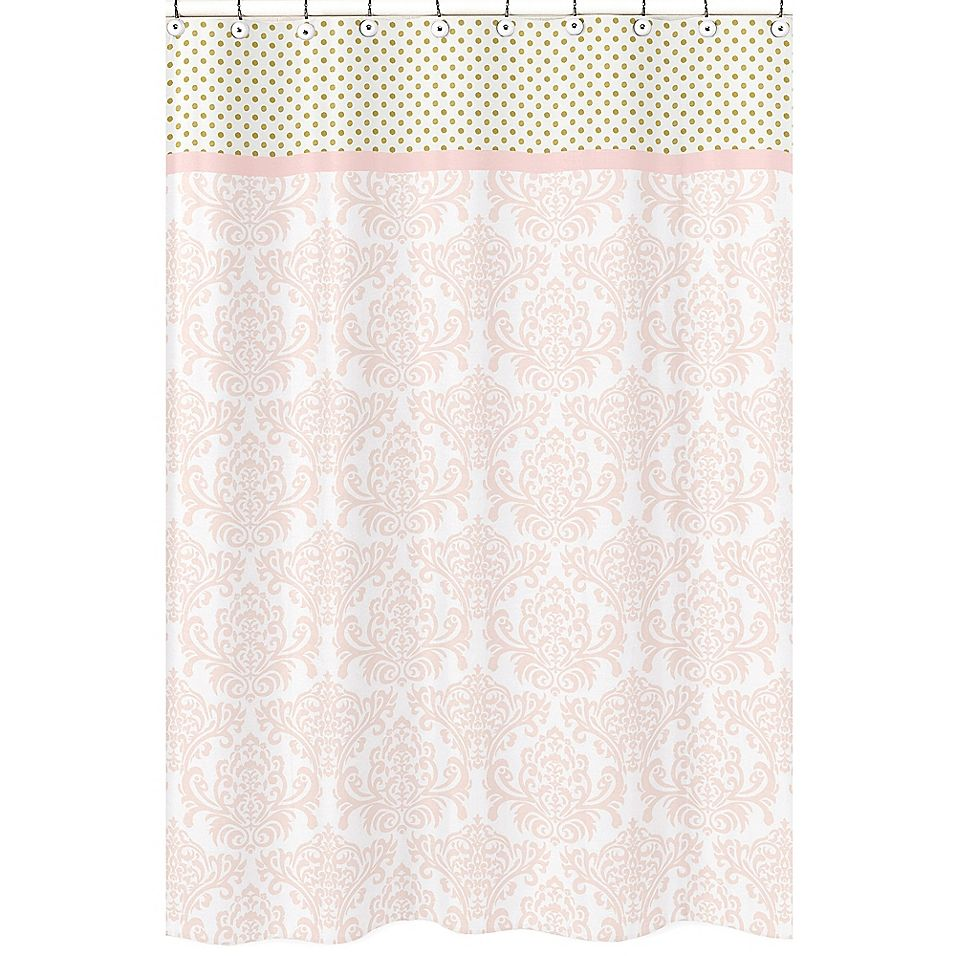 Sweet Jojo Designs Amelia Shower Curtain In Pink Gold Curtains