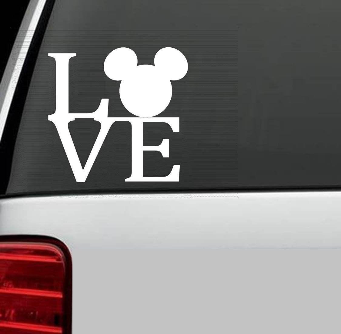 Love Mickey Mouse Ears Vinyl Decal Deal Disney Car Decals Vinyl Decals Vinyl Decal Stickers [ 1101 x 1125 Pixel ]