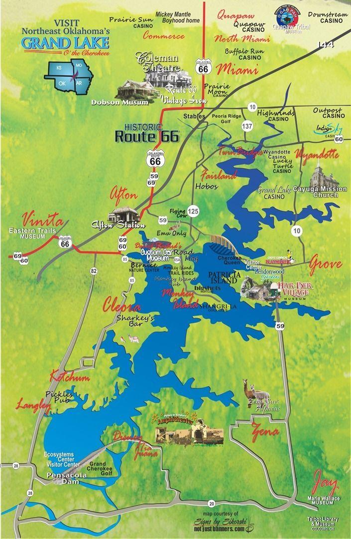 Grand Lake OK walking hiking biking trails Grove Cleora