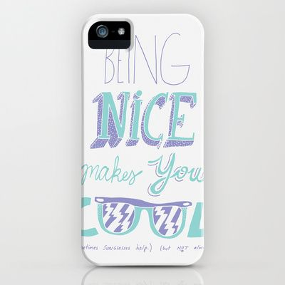 Being Nice Iphone Case By Will Bryant 35 00