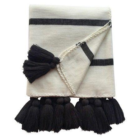 Nate Berkus Striped Tassle Throw Blanket, $32
