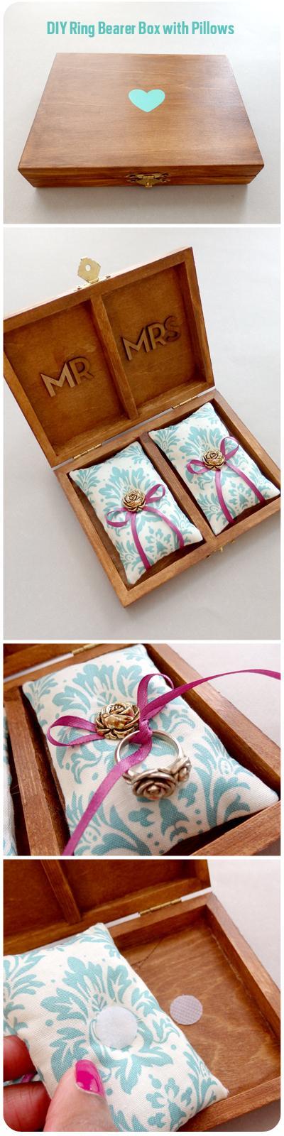 DIY Wedding Ring Bearer PillowDIY Ring Bearer Box/ caixa para almofadas e alianças