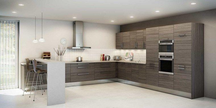 Cocina En Forma De L | Forma Cocinas Diseno L Barra Bonita Ideas Interiores Para Cocina