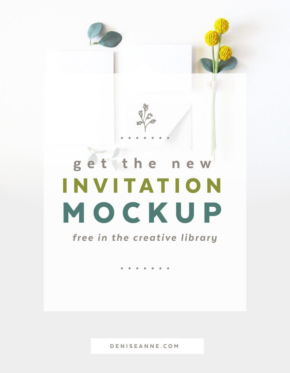 New Invitation Mockup Set | Free wedding invitations and Mock up