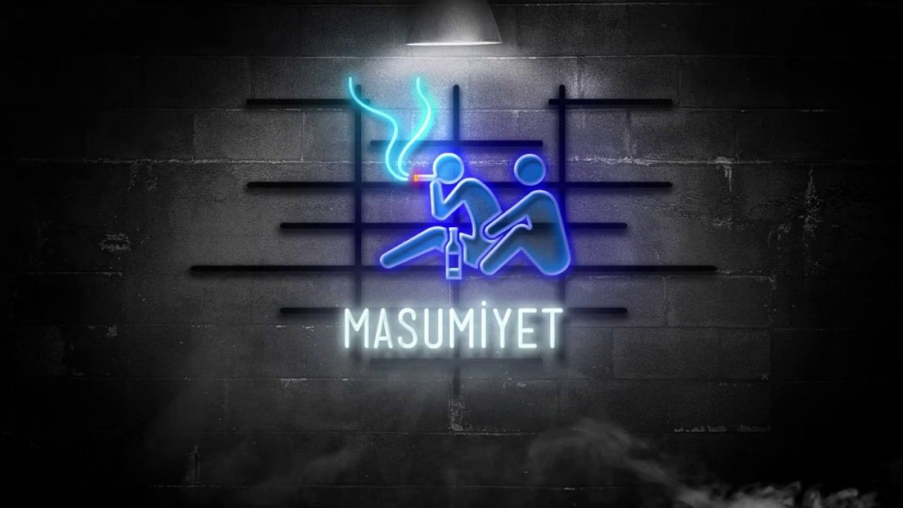 Masumiyet Minimal Video Afiş Neon signs, Graphic design