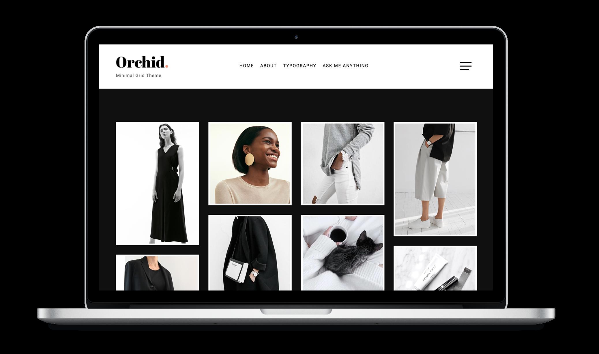 Orchid | Minimal Grid Tumblr Theme | Grid layouts and Minimal