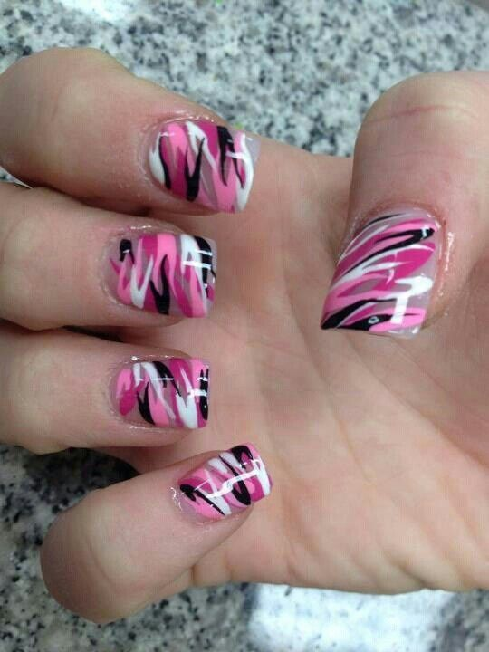 20 Super Cute Outfits for Spring 2018! Pink Camo NailsCamo ... - 20 Super Cute Outfits For Spring 2018! Camo Nails, Manicure And