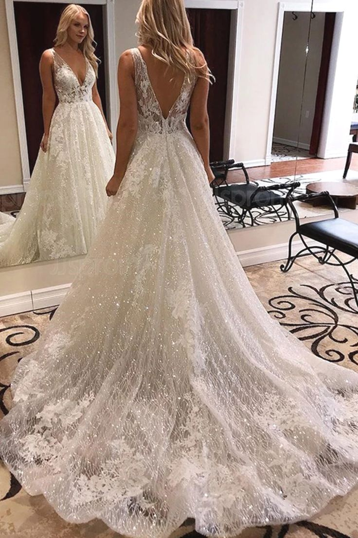 Wedding Weddingdresses Sparkle Wedding Dress Wedding Dress Sequin Lace Weddings [ 1104 x 736 Pixel ]