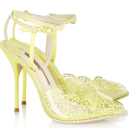 Sophia Webster Kiki lace-print PVC and leather sandals | Sophia ...