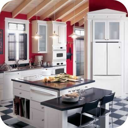 Party Ideas Party Printables Blog Red Kitchen Walls Red And White Kitchen Kitchen Color Red