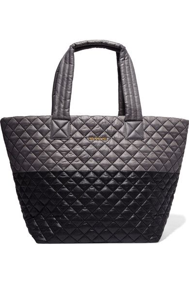 MZ Wallace - Metro Two-tone Quilted Shell Tote - Gray - one size