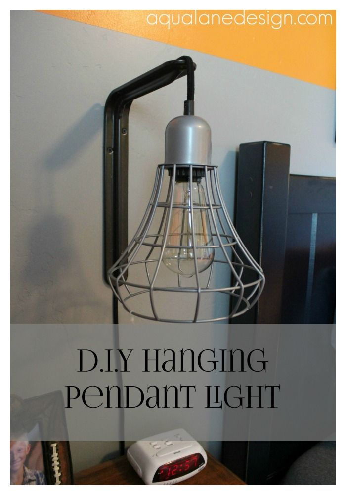 Diy Hanging Pendant Light Use A Simple Shelf Bracket To Make A