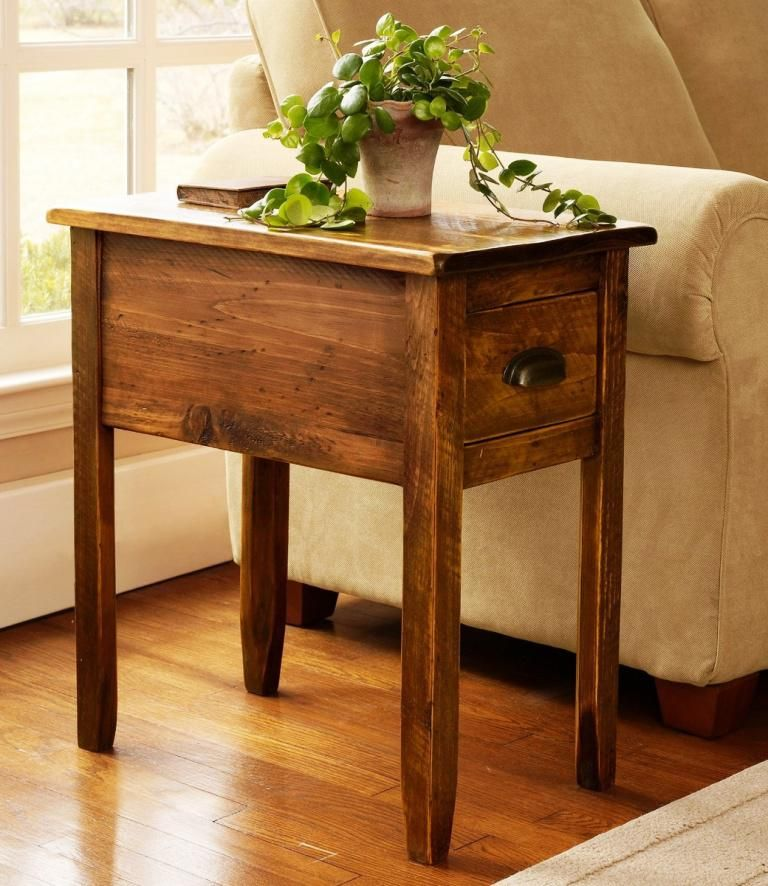 Pin By Bruce Hagins On Craft Stuff In 2020 Rustic End Tables Rustic Side Table Wooden Side Table