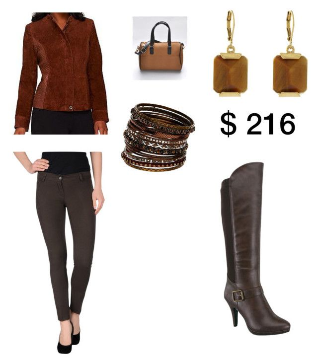 """Brown and Some Texture"" by tnphoenixrising on Polyvore featuring yeswalker, La Kore, Isaac Mizrahi, Wallis, Vince Camuto, women's clothing, women's fashion, women, female and woman"