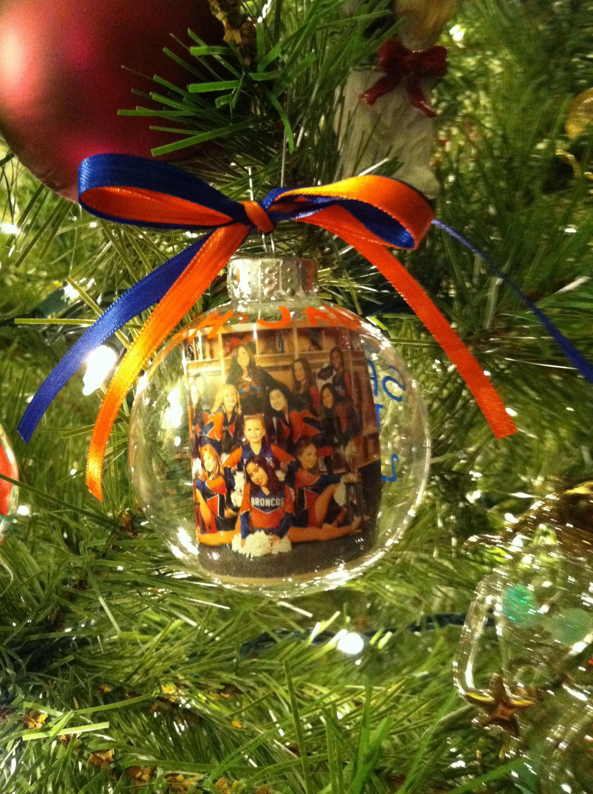 Christmas ornament with a picture. This is for the 12 ...
