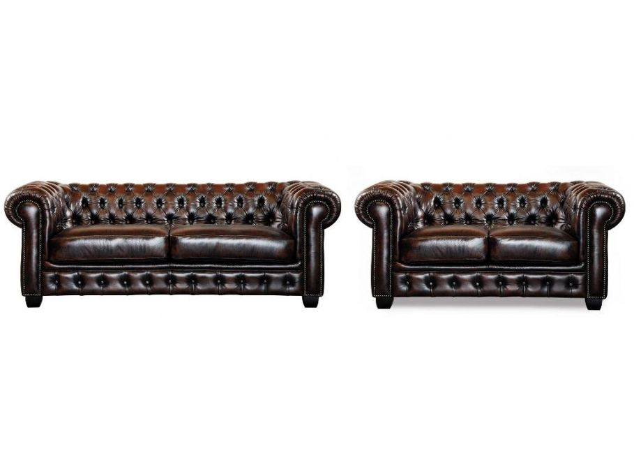 chesterfield ledersofa 3 sitzer brenton vintage leder braun g nstig kaufen m bel online. Black Bedroom Furniture Sets. Home Design Ideas