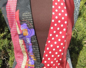 A real one of a kind! Youll look stunning in this vest made entirely out of mens ties! One vintage button accents the front while tie ends tie you
