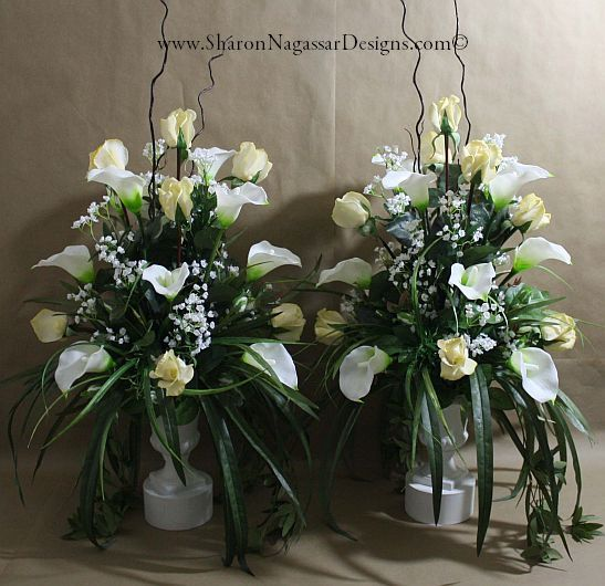 Finishing Touches Wedding Altar Decor: 1 Pc, Altar Arrangement/centerpiece, Ivory, White, Real