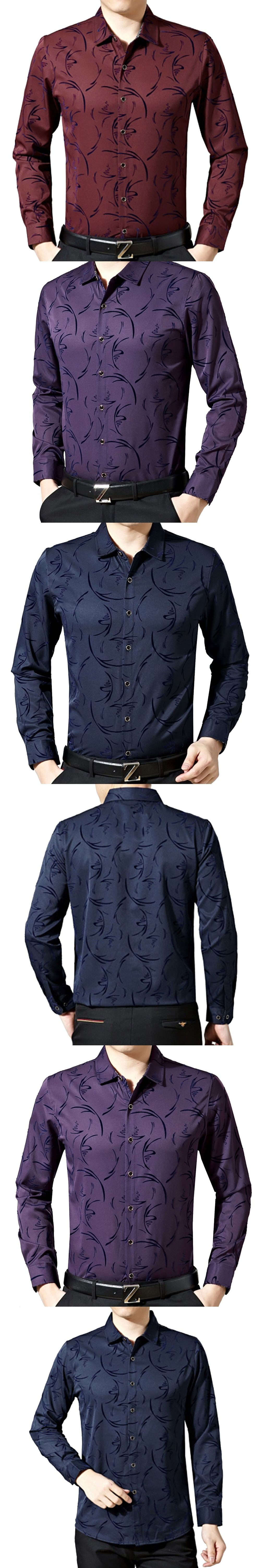 New style men shirt spring new brand business menus slim fit shirt