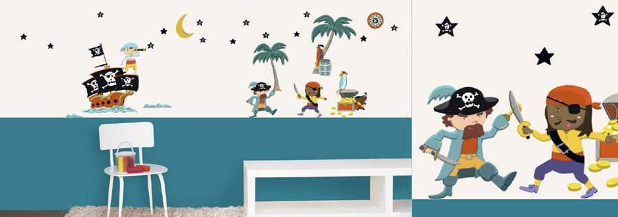 Muurstickers Kinderkamer Piraat.Muursticker Piraten Muurstickers Kinderkamer Acaza Junior