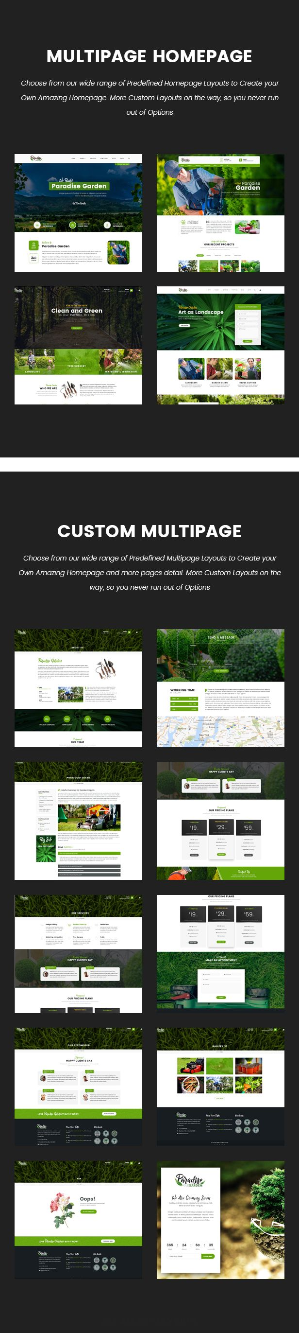 Paradise Garden Gardening And Landscaping Html Template Paradise Garden Landscape Landscaping Company
