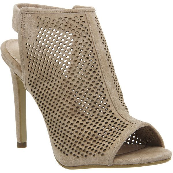 Office Teagan Perforated Slingback Shoe Boots ($99) ❤ liked on Polyvore  featuring shoes, · Nude BootsHigh Heel ...