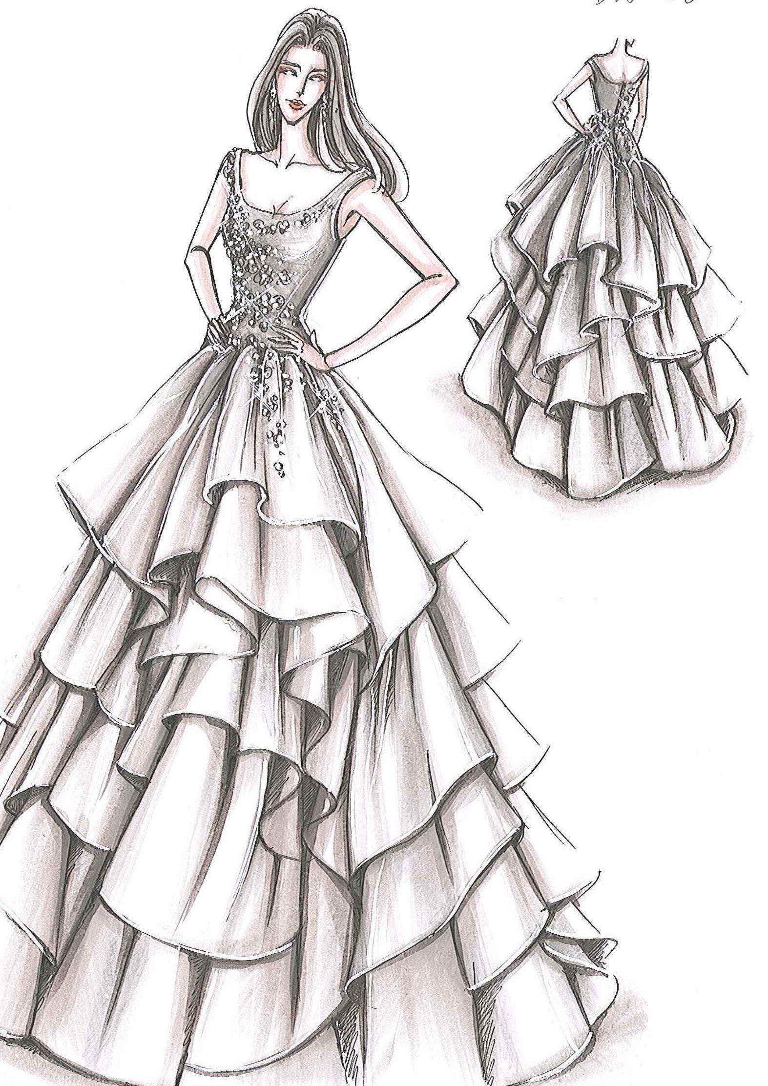 Fashion Look Fashion Illustration Sketches Dresses Dress Design Drawing Fashion Illustration Dresses