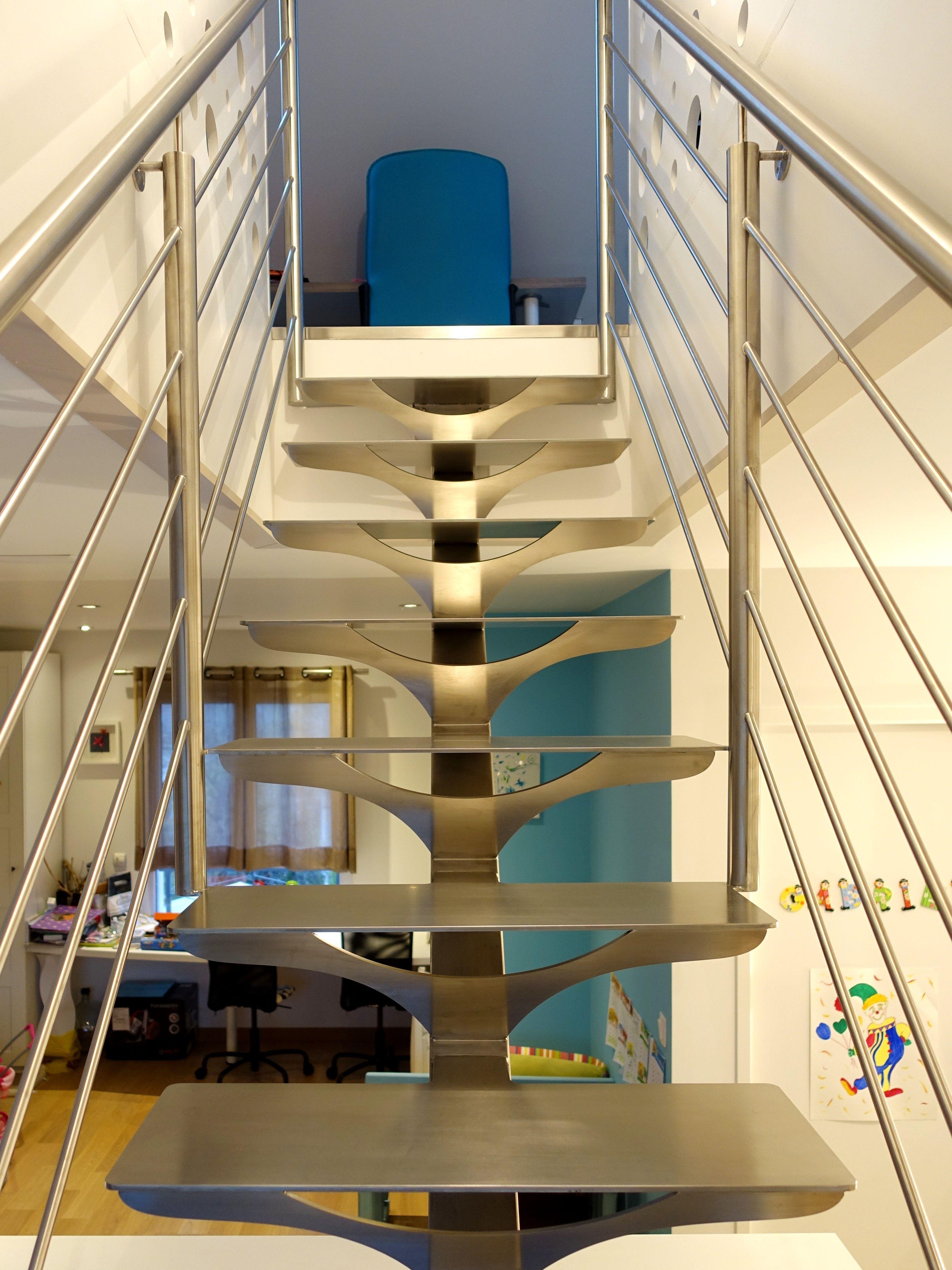 Escalier Contemporain M Tallique Tout En Inox Bross Atelier