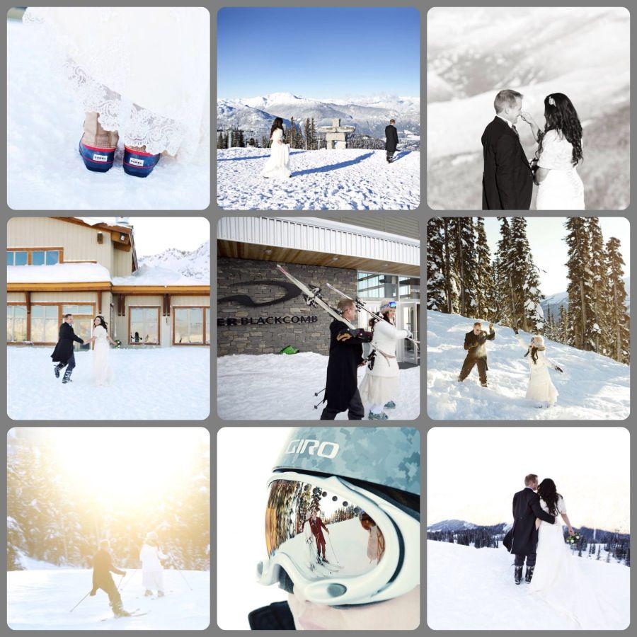 Winter ski wedding on Whistler Mountain #whistler