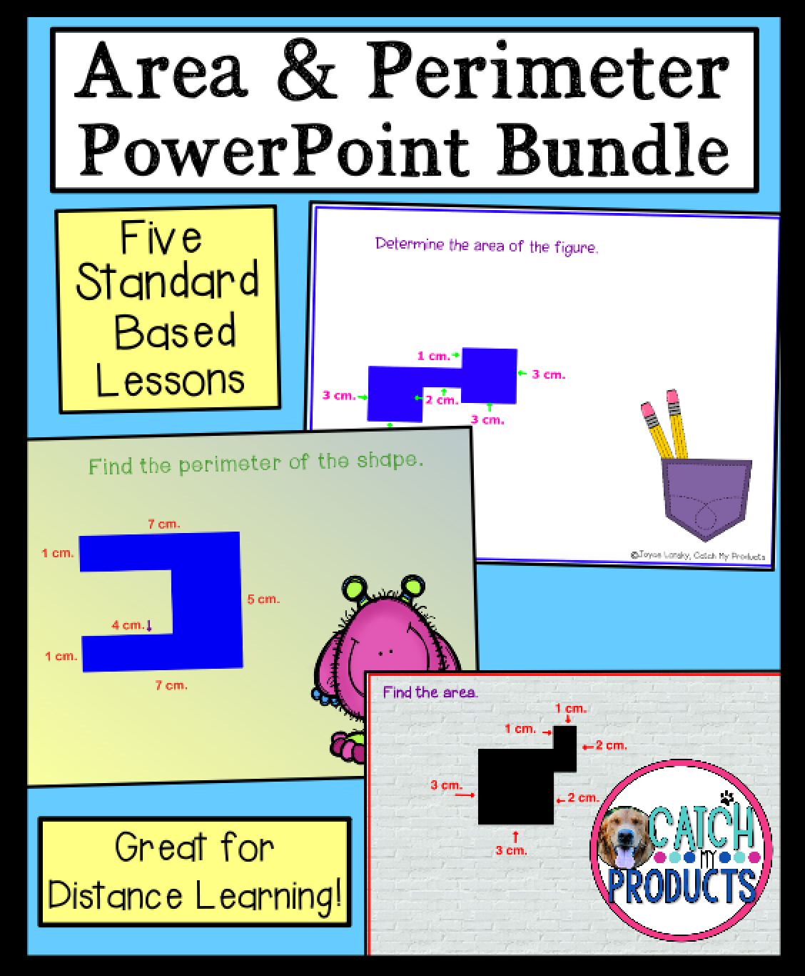Area And Perimeter Powerpoints Distance Learning In