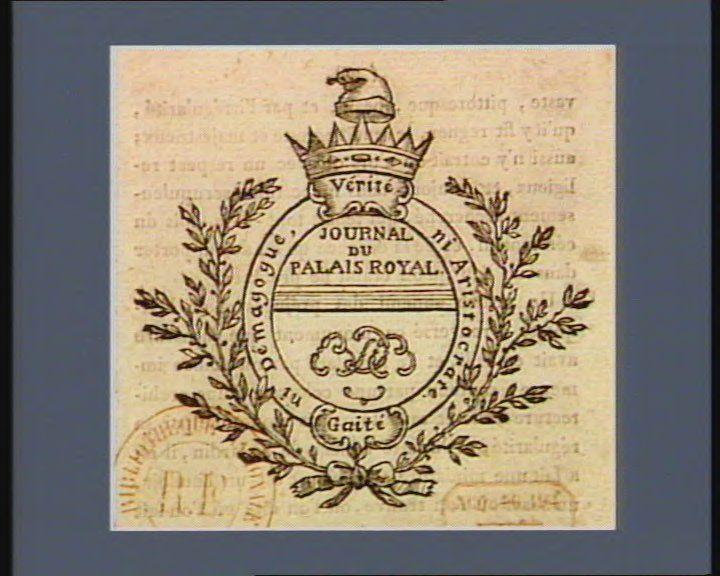 French Revolution Digital Archive: Journal du Palais Royal vérité gaité : ni demagogue, ni aristocrate : [estampe]