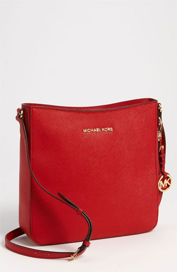 938d63fe60a1 ... leather satchel 822bb f4aa5; wholesale 228 michael michael kors michl  michl kors jet set large crossbody bag red. sold
