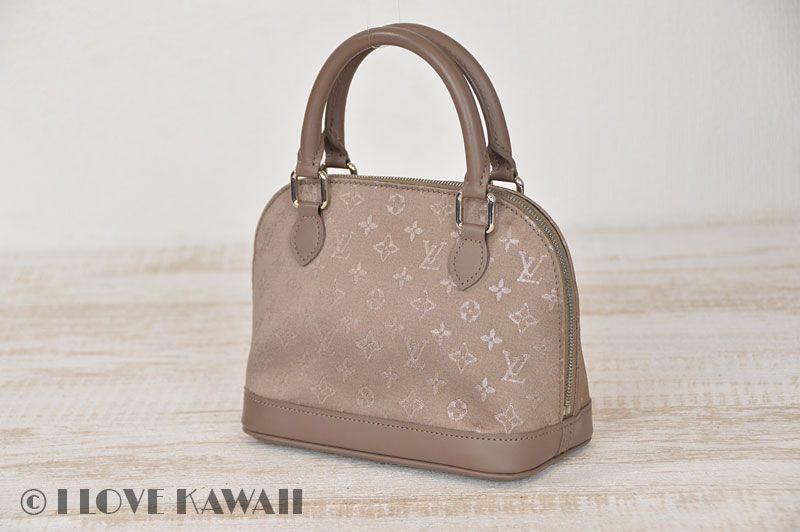 Louis Vuitton Beige Monogram Satin Little Alma Hand Bag M92147