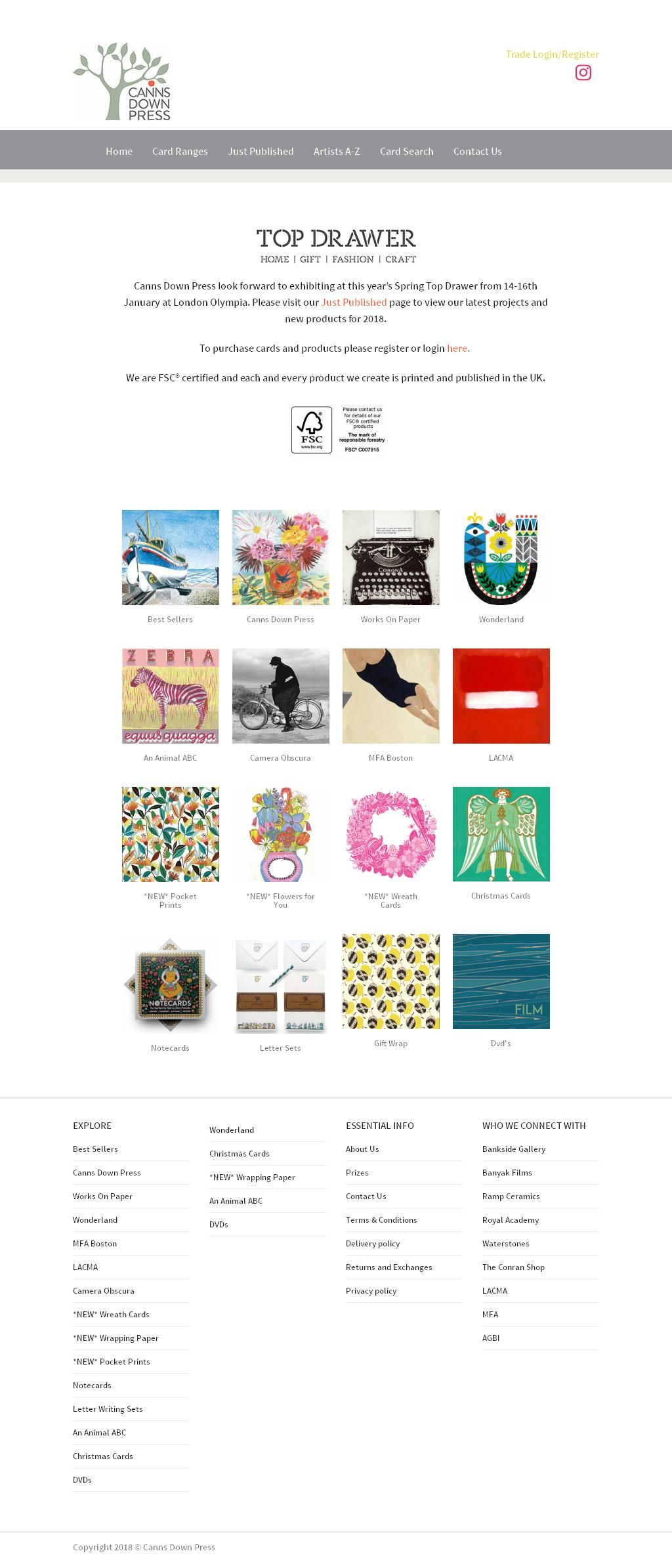 Canns Down Press Greeting Card Publishers Wholesalers Winkleigh