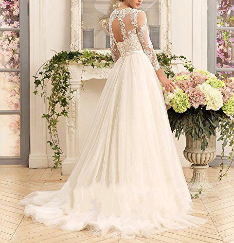 Kevins Bridal Women\'s A-Line Wedding Dresses 2017 Long Lace Bridal ...