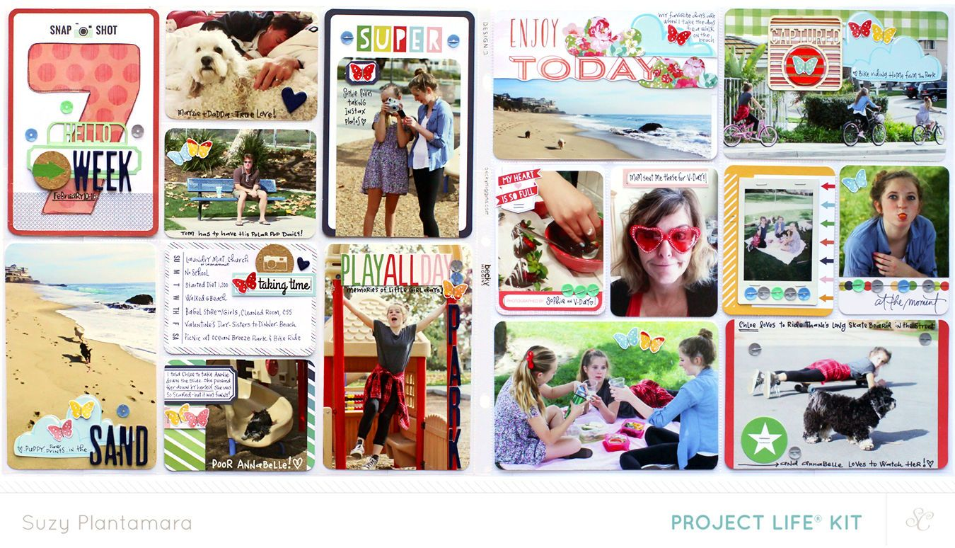 Project Life Week 7 2014 (PL Kit Only) by suzyplant at @Studio_Calico